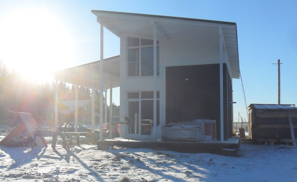 Фото зимнего дома
